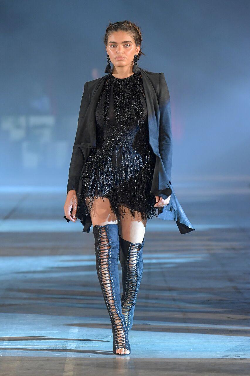 Black Dress on Catwalk Jurassic World Leah Da Gloria