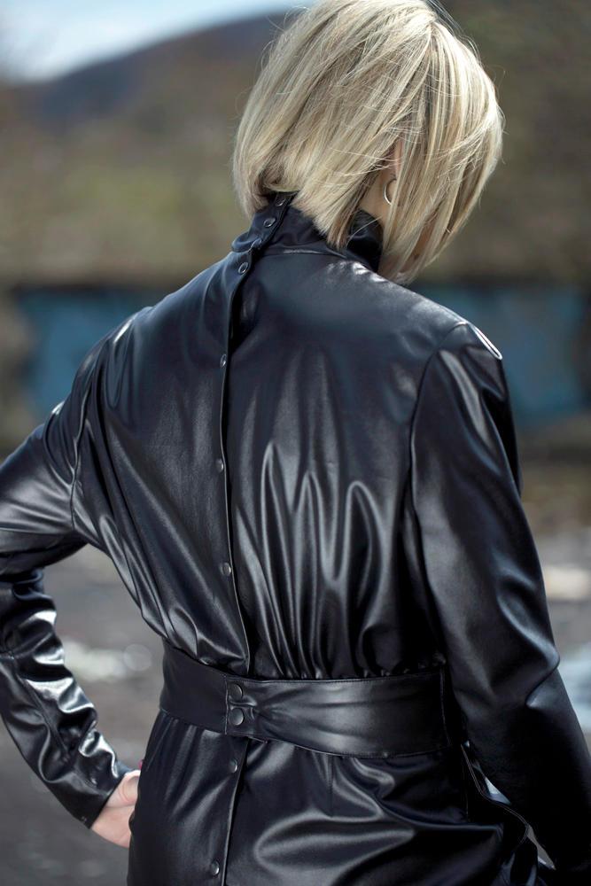 Vintage Button Back Dress Black