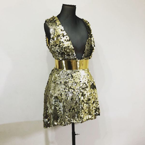 Gold Sequin Dress A Star is Born Ricki Lee