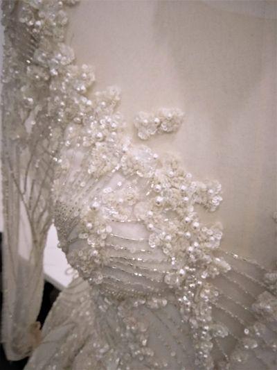 Hand Sewn Beaded Lace Details Leah Da Gloria