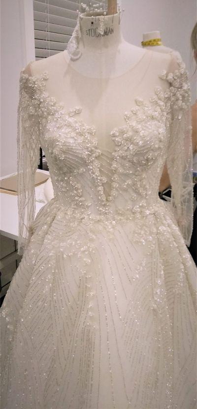 Hand Sewn Beaded Lace Dress Leah Da Gloria