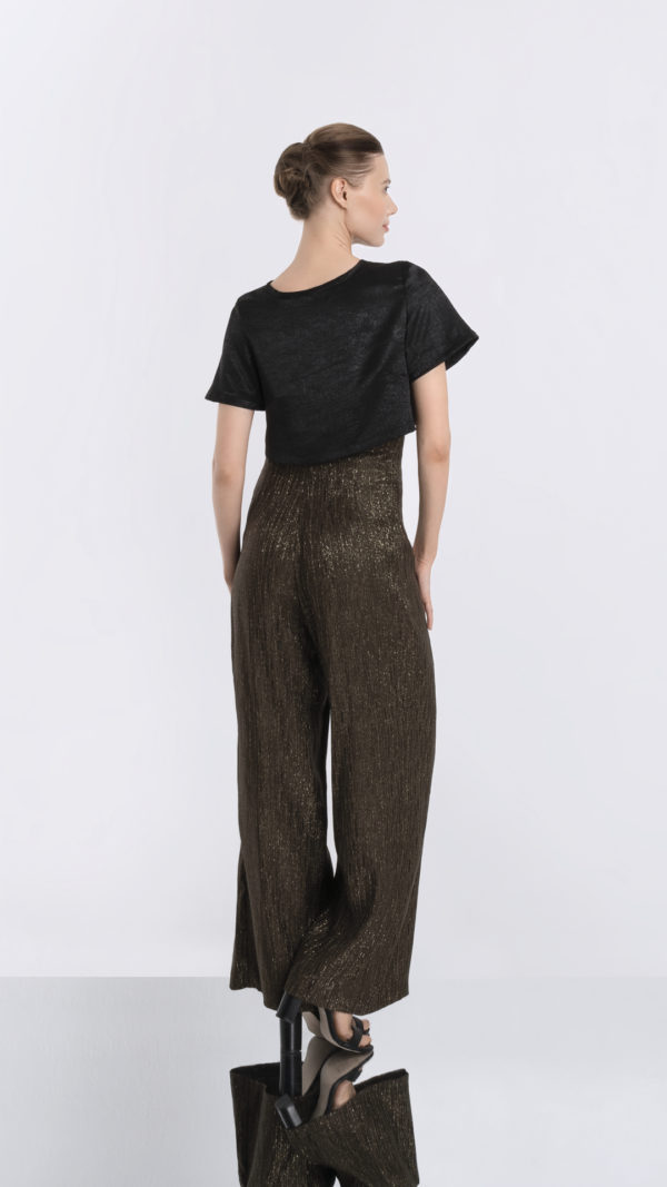 Matador high waisted gold striped pants back