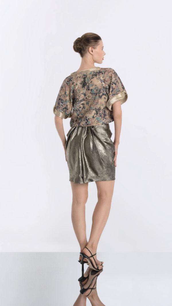 Japonaiserie Top and Golden Skirt Back