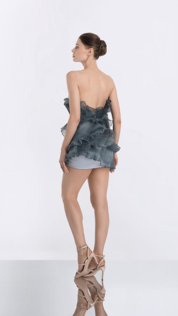 Luna Grey Dress Back