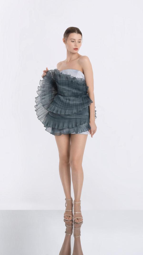 Luna Grey Dress Front 2