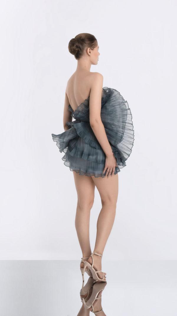 Luna Grey Dress Side 3